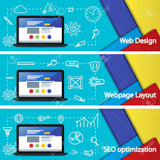Sites That Use Material Design Flat 3d Material Design Banner Web Design Layout Of Sites Seo
