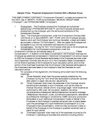 Printable Physician Employment Contract Sample - Fill Out & Download ...