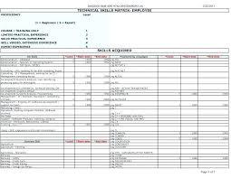 Employee Training Matrix Template Excel Free Employee Training Database Template Excel