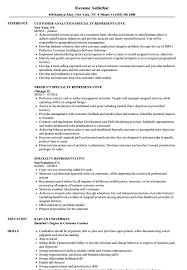 resume specialties examples specialty representative resume samples velvet jobs