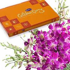 fresh orchids n cadbury celebration
