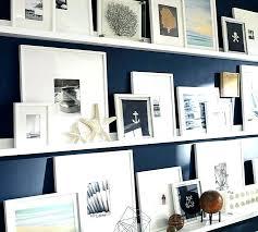 studio wall shelf natural s shelves ladder display pottery barn wood set of 2 antique white