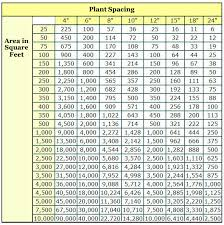 Vine Spacing Chart How To Determine How Many Plants To Fill A Space Or Area