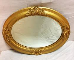 antique oval mirror frame. Antique Gold Oval Mirror With Gilded Edging $125 Frame