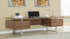 monarch specialties white hollow coresilver metal office desk 60 inch you
