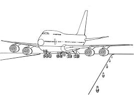 Kleurplaat 747 Vliegtuig Afb 7521 Beroepen Taalthema