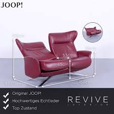 Amazonde Joop Designer Leder Sofa Rot Zweisitzer Couch