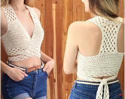 Crochet Crop Top Pattern Gorgeous Crochet Top Pattern Etsy