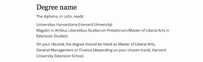 Resume Guidelines Cool Harvard Extension School Degree On Resume Awesome Harvard Extension