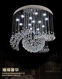 living charming crystal chandeliers for