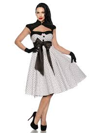 Rockabilly Kleid, weiß/schwarz | suicide model/pin up/rockabilly ...