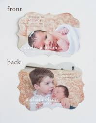 Sample Baby Announcement Birth Announcement Baby Girl Photo Luxe Card Boy Or Girl Printed