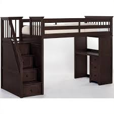 schoolhouse stairway loft bed with desk cherry loft beds at simply bunk beds