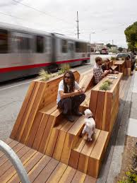 contemporary public space furniture design bd love. This Parklet In San Francisco, California Was Designed By INTERSTICE Architects And Includes Four Separate Areas, Including Built Seating Tables, Contemporary Public Space Furniture Design Bd Love A
