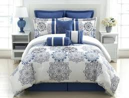 navy blue and silver bedding