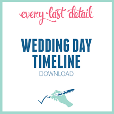 wedding day itinery creating a wedding day timeline every last detail