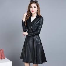 women s motorcycle winter faux leather sheepskin jacket long coat female pu simply add merry leather suede leather suede women s