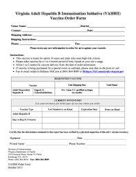 Fillable Online Vdh Virginia Vaccine Order Form - Vdh Virginia Fax ...
