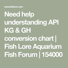 Api Gh And Kh Conversion Chart Need Help Understanding Api Kg Gh Conversion Chart Fish