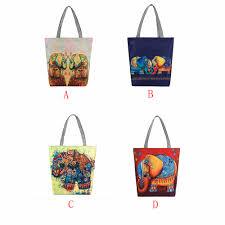 Elephant Designer Bag Us 1 92 25 Off Luxury Handbags Women Bags Designer Cute Elephant Printing Canvas Tote Casual Beach Bags Women Shopping Bag Handbags Bolsas In