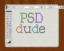 Cross Stitch Pattern Generator Impressive Create A Cross Stitch Effect In Photoshop Photoshop Tutorial PSDDude