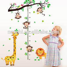 Kindergarten Height Chart Kids Animal Giraffe Childrens Height Decorative Wall Sticker Kindergarten Height Growth Chart Kids Diy Sticker Rooms Home Decor Buy Removable Pvc