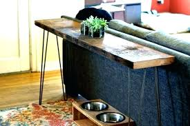 diy long table bar height sofa table long table behind couch s console in front of
