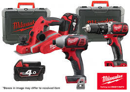 milwaukee m18 logo. milwaukee m18 planer,combi-drill and impact kit logo