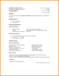 6 Undergraduate Curriculum Vitae Template Hr Cover Letter