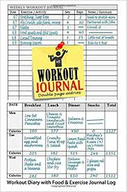Work Out Journal Workout Journal Workout Diary With Food Exercise Journal