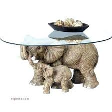 elephant table with top modern coffee tables and accent ceramic glass end dining mid century glazed elephant table glass