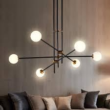 architectural lighting glass sphere led chandelier 2 light 3 light 4 light 6