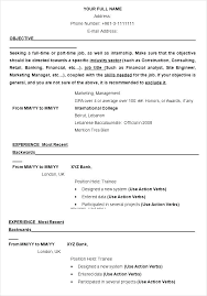 Resume Templates Word 2003 Mesmerizing Simple Resume Template Word 28 Templates It Download Example Free
