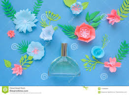 Paper Flower Perfume Flower Arrangement Flowers Fragrance Perfume Stock Photo Image