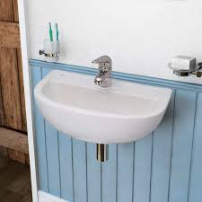 barclay compact wall mounted bathroom sink installed for more images