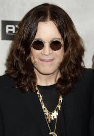 ozzy osbourne showed off his signiture round sungles while hitting the guys choice awards
