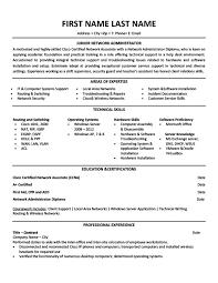 Junior Network Administrator Resume Template Premium Resume