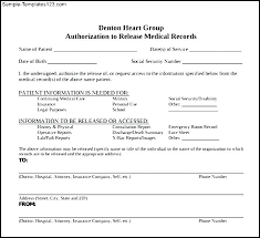 Images Of Template For Student Records Request Medical Release Form ...