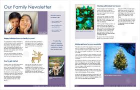 Newsletters Templates Family Newsletter Templates Make It Easy To Start A Family