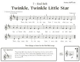 Printable Sheet Music For Recorder Karate