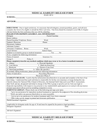 Medical Liability Release Form In Word And Pdf Formats
