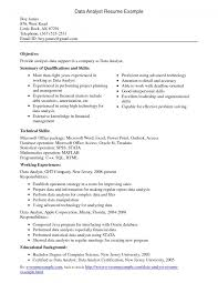 Cover Letter Analyst Resume Examples Resume Examples Business