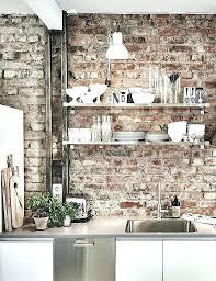 brick effect kitchen wall tiles brick wall in kitchen cozy home with a brick wall via brick effect kitchen wall tiles