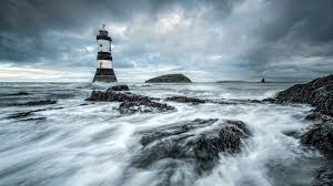 sea aeyaey lighthouse landscape wallpaper 1920x1080 129313