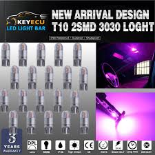 Purple Led Interior Dome Lights Us 15 92 20 Off Keyecu 20 194 Purple Led Light T10 2smd 3030 Chips Car Interior Light Replacementw5w 168 175 19map Dome Courtesy License Plate In