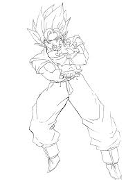 Coloriage Dragon Ball Z Sangoku Super Sayen 4 Gallery Of
