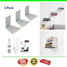 small metal shelf. Image Is Loading 3-Pack-Book-Shelf-Wall-Mount-Invisible-Bookshelf- Small Metal Shelf