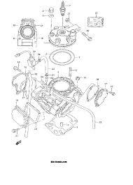 2000 suzuki rm250 rm250y cylinder model y parts best oem