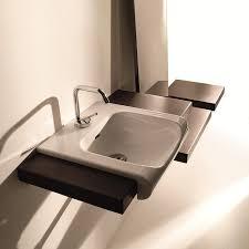 ws bath collections inka 3412 semi recessed bathroom sink 15 7 x