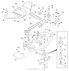 Bunton mower parts diagram pictures 48 inch width cutterdeck blade belt drive system parts large